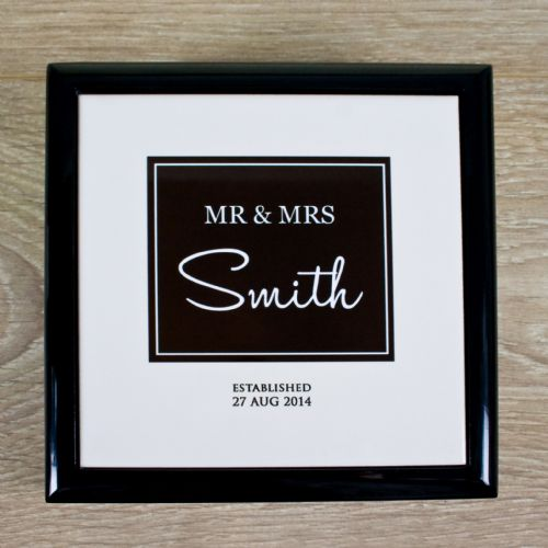 Personalised Mr & Mrs Couple Keepsake Box